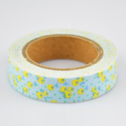 Lychee Craft Yellow Flower Fabric Washi Tape Decorative DIY Tape