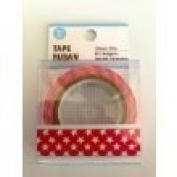 White Stars on Red Decorative Printed Tape 15mm wide/10 m