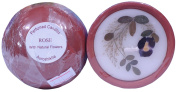 Auroshikha Rose Perfumed Candle with Natural Flowers