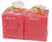 Auroshikha Rose Coloured Candles Perfumed