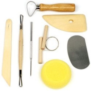 StalwartT 8 Piece Pottery & Clay Modelling Tool Sculp