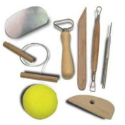 8pc Hobby Arts & Crafts Basic Pottery Clay Moulding Tool Set