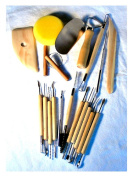 19-Pc Pottery & Clay Sculpture Modelling Tools
