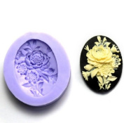 Wholeport Rose Silicone Resin Clay Moulds Handmade Resin Mould Polymer Clay Mould