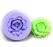 Wholeport 1-Hole Floral Resin Mould Clay Moulds Handmade Resin Mould Polymer Clay Mould