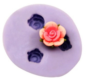 Wholeport Plum Blossom Resin Mould Clay Moulds Handmade Resin Mould 3-Hole Polymer Clay Mould