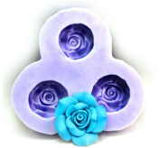 Wholeport Flower Silicone Resin Clay Moulds Handmade Resin Mould Floral Polymer Clay Mould