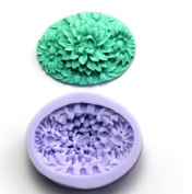Wholeport Beautiful Floral Silicone Resin Clay Moulds Handmade Resin Mould Polymer Clay Mould