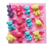 Wholeport Animal Fondant and Gum Paste Silicone Resin Candy Moulds Baking Moulds Cake Decoration