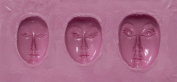 "FlexiMold Silicon Mould, ""Faces"" Mould 2"