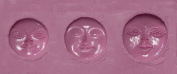 "FlexiMold Silicon Mould, ""Moonface"" Mould"