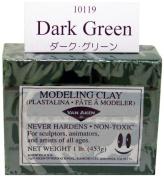 Van Aken Plastalina Modelling Clay dark green 1 lb. bar