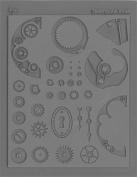 Lisa Pavelka Steampunk Innie Texture Stamp