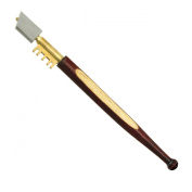Diamond-Tipped Glass Cutter - Brass Snapper - Hardwood Handle