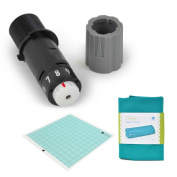 Silhouette Replacement Blade, Black with Replacement Cutting Mat 30cm x 30cm and dust cover Teal