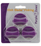 Purple Cows Click Blade Pinking 3/Package, Pinking, Squiggle, Stamp Cut
