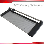 Brand New 24In 620mm Rotary Photo Vinyl Paper Cutter Portable Trimmer +1 Blade