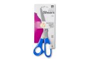 Charles Leonard Inc. Office Shears, 22cm Bent, Blue