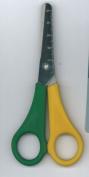 Westcott E-20593 00 Kids 13cm Scissor with cm Scale - Yellow/Green