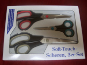 Soft Touch Scissors: Set of 3