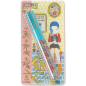 Sun-Star Stickyle Pen-Style Scissors - Flower