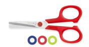 Mundial 669-KM Dot Kids 11cm Blunt-Tip True-Left-Hand School Scissors, Colours May Vary
