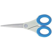 Acme United Corporation Products - Straight Scissors, 18cm L, Pointed, Antimicrobial, Blue/Grey - Sold as 1 EA - 18cm straight scissors feature built-in Microban antimicrobial protection. Microban protection on the soft handles offers an added level of ..