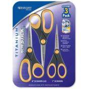 Westcott Titanium Non Stick Scissors - 3 pk.