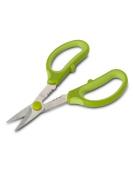 Green 18cm Stainless Steel Gardening Herb Snips Scissors Shears W/ Stem Stripper