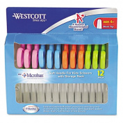 Westcott Kids Soft Handle Scissors with Microban Protection, 12/Pack, 13cm Blunt