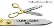 "Pre-Laser Engraved ""GRAND OPENING 5120cm 27cm Gold Plated Handles Ceremonial Ribbon Cutting Scissors"