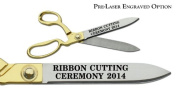 "Pre-Laser Engraved ""RIBBON CUTTING CEREMONY 5120cm 27cm Gold Plated Handles Ceremonial Ribbon Cutting Scissors"