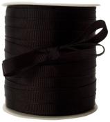 May Arts 1cm Wide Ribbon, Black Grosgrain