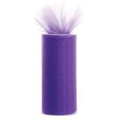 Purple 15cm X 75 Ft (25 Yards) Tulle 100% Nylon