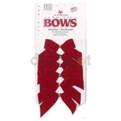 HOLIDAY TRIM 7920 6-Pack 2-Loop Velvet Bow for Decoration, Red