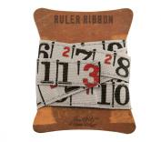 Ruler Ribbon by Tim Holtz Idea-ology, 1 yard per pack, 1.6cm , Cloth, Multicoloured, TH92830