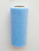 Cinderella Light Blue 15cm X 75 Ft (25 Yards) Tulle 100% Nylon