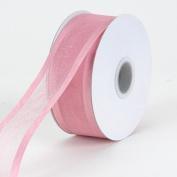 Mauve Organza Ribbon Two Striped Satin Edge 1.6cm 25 Yards
