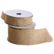 3.8cm Wide Burlap Ribbon on Spool - 10 yards