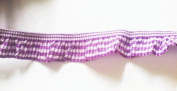 2 Yards - 1 Side Trim - Purple Gingham Elastic Trim - Size 18 Mm