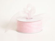 Sheer Organza Ribbon 2.5cm - 1.3cm 25 Yards Light Pink, 30 more Colours