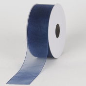 Navy Sheer Organza Ribbon 2.2cm 25 Yards