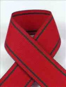 Schiff Ribbons 44208-5 Tuxedo Stripe 2.2cm Fabric Ribbon, 10-Yard, Red/Green Stripes