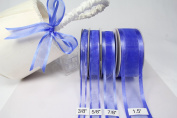Royal Blue Organza Ribbon with Satin Edge-25 Yards X 1.6cm