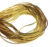 "25 Yards(75feet) - 2mm(1/13"") Antique/Old Gold Satin Rattail Cord Chinese/china Knot Rat Tail Jewellery Braid 100% Polyester"