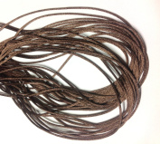 "25 Yards(75feet) - 2mm(1/13"") Brown Satin Rattail Cord Chinese/china Knot Rat Tail Jewellery Braid 100% Polyester"