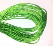 "25 Yards(75feet) - 2mm(1/13"") Apple Green Satin Rattail Cord Chinese/china Knot Rat Tail Jewellery Braid 100% Polyester"