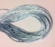 "25 Yards(75feet) - 2mm(1/13"") Blue Mist Satin Rattail Cord Chinese/china Knot Rat Tail Jewellery Braid 100% Polyester"