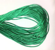 "25 Yards(75feet) - 2mm(1/13"") Emerald Green Satin Rattail Cord Chinese/china Knot Rat Tail Jewellery Braid 100% Polyester"