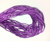 "25 Yards(75feet) - 2mm(1/13"") Purple Satin Rattail Cord Chinese/china Knot Rat Tail Jewellery Braid 100% Polyester"